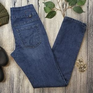 Jag Jeans High Rise Straight Leg Pull On Jeans